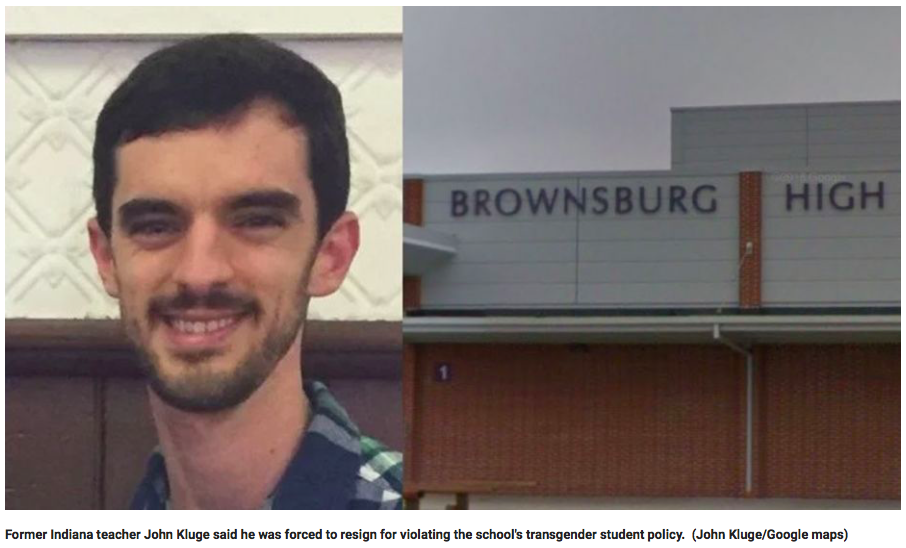 Indiana High School Teacher Claims He Was Forced To Resign Because