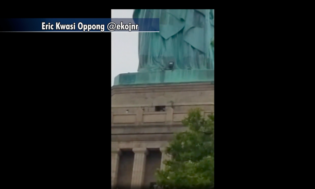 Woman Escorted Down After Scaling Statue Of Liberty ...