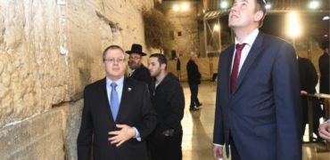 Israeli Official Takes Czech FM To Western Wall, Drawing Palestinian Ire
