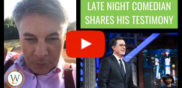 Late Night Comedian Shares Testimony