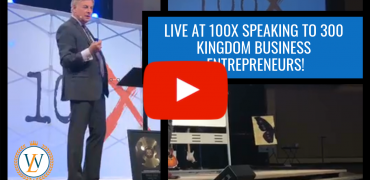 LIVE at 100X speaking to 300 Kingdom Business Entrepreneurs!