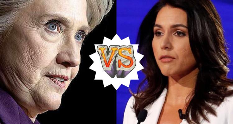 Hillary Clinton vs. Tulsi Gabbard Twitter War