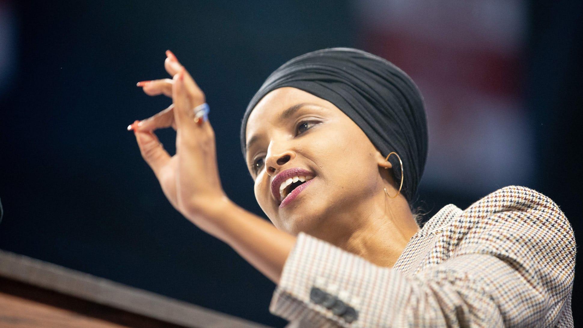 Ilhan Omar praises socialist bernie sanders who is a known communist sympathizer
