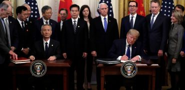 "Trump Signs ""Phase 1"" Trade Deal With China, Ending Trade War"