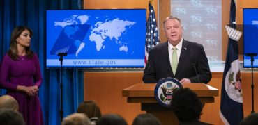Secretary of State Mike Pompeo responded to a report by the Federalist on Tuesday concerning Democratic senators who privately met with Iranian Foreign Minister Javad Zarif without State Department knowledge or approval.