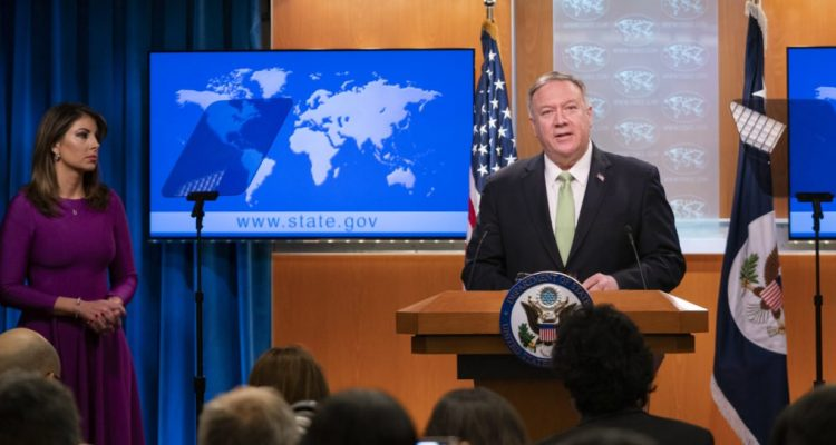 Secretary of State Mike Pompeo responded to a report by theFederaliston Tuesday concerning Democratic senators who privately met with Iranian Foreign Minister Javad Zarif without State Department knowledge or approval.