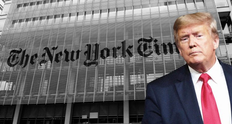 trump suing ny times for libel