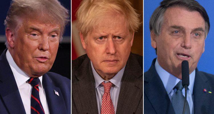 Trump Boris Johnson Jair Bolsinoro COVID-19