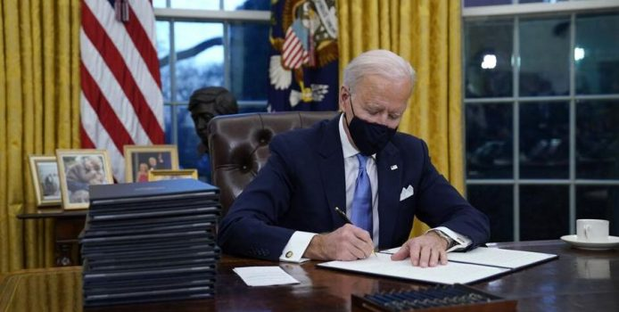 Joe Biden's first week